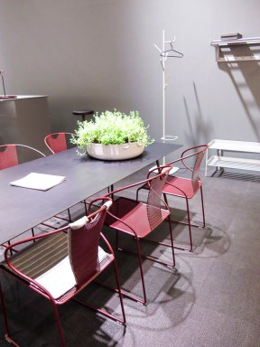 Dingroomtable or conference table.