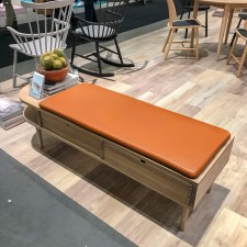 A beautiful wooden bench.