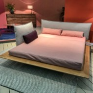 Nice, square bed.