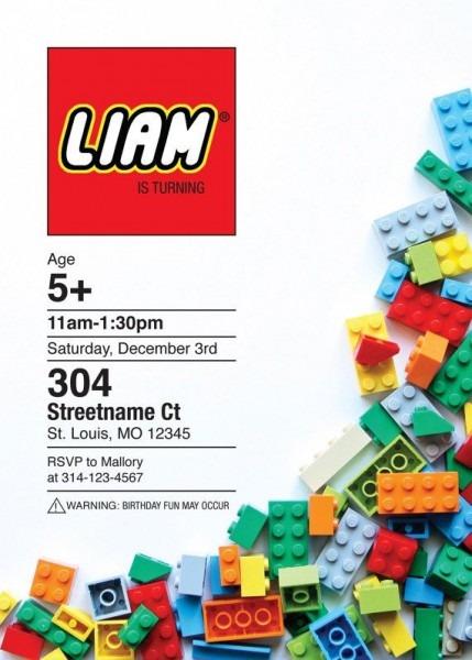 lego template invitation