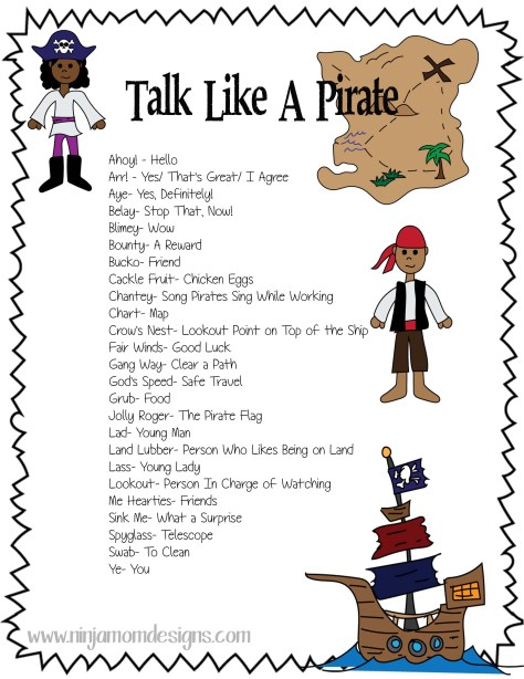 Talk Like a Pirate