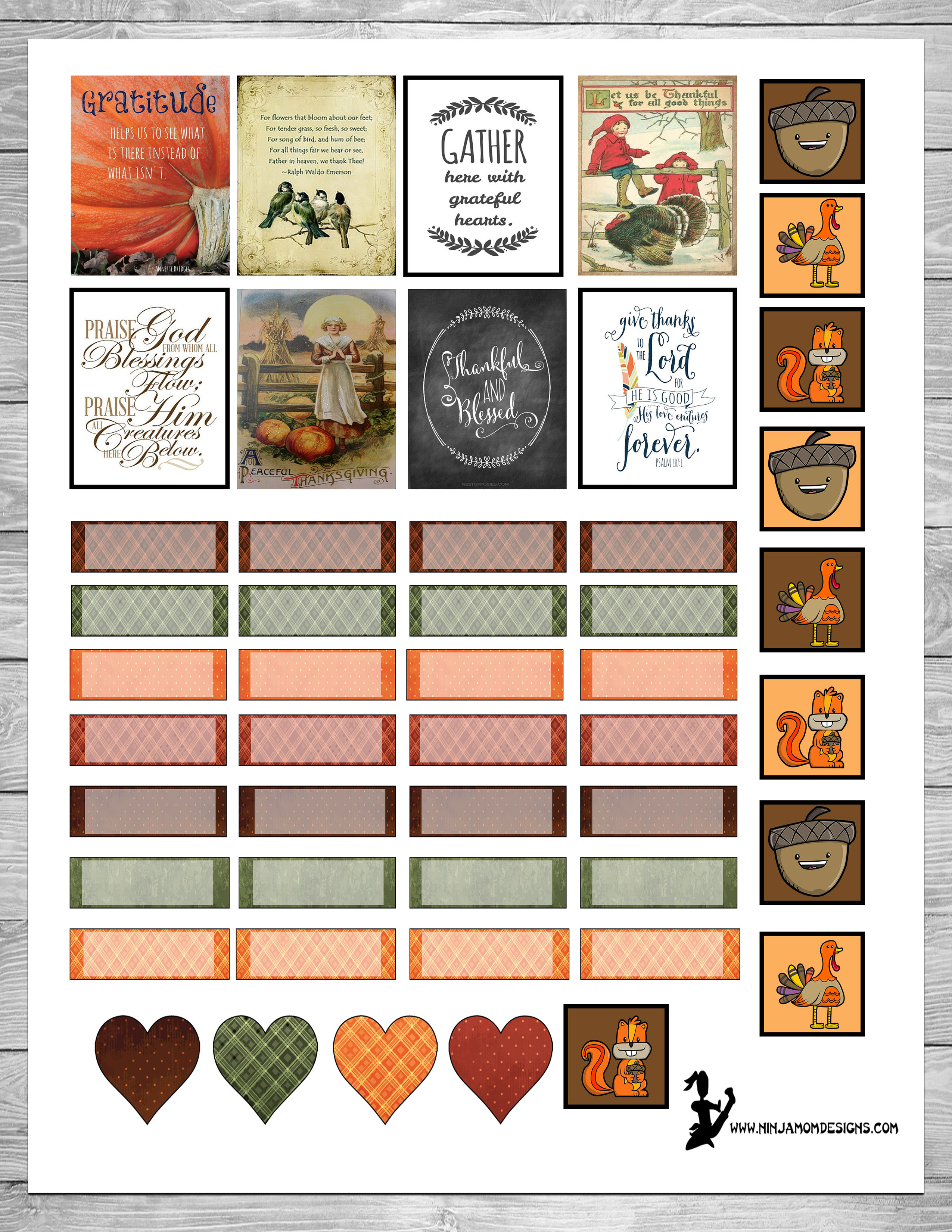 {FREE} Thanksgiving Themed Planner Sticker Printable