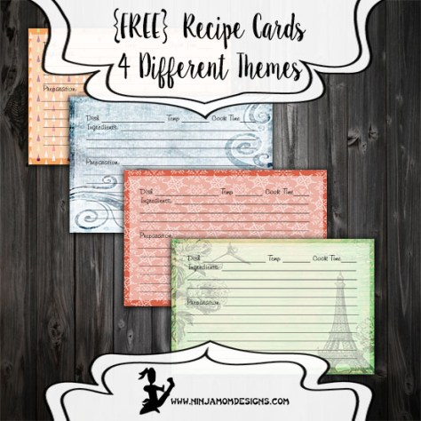 Recipe Card Cover