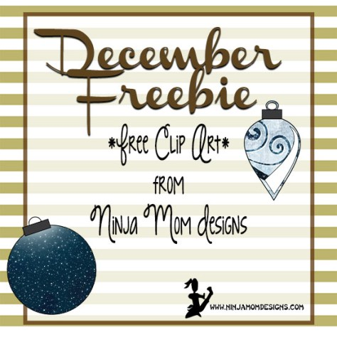december clip art freebie