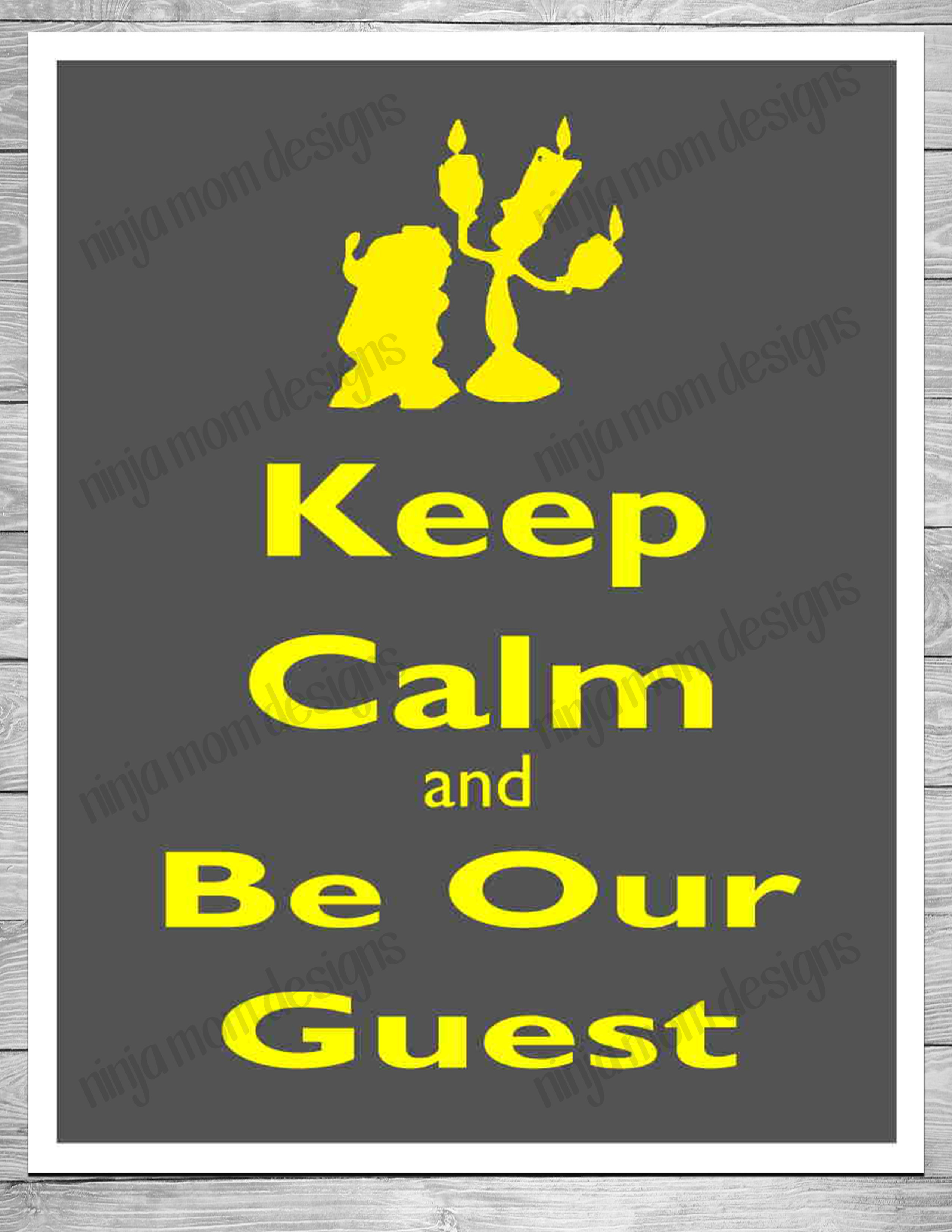 image regarding Be Our Guest Printable called Free of charge Preserve Serene and Be Our Visitor Printable