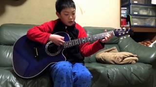 「Good Bye Days/YUI」カバー ギター弾き語り(11歳)