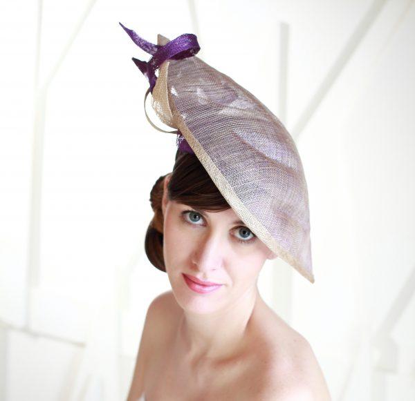 Chapeau de cocktail LA FEUILLE Ninou Laroze