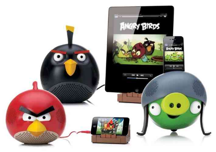 gear 4 have just released a selection of speakers and dock stations based upon characters from rovios popular puzzle title angry birds - Christmas Angry Birds