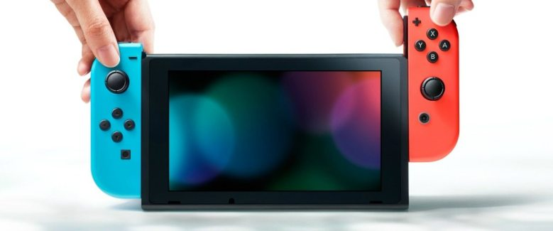 Nintendo Switch Neon Red Blue Console Image