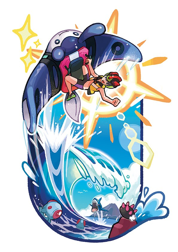 mantine-surf-pokemon-ultra-sun-ultra-moon-illustration