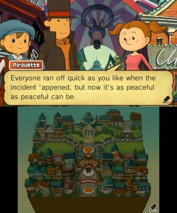 Professor Layton And The Miracle Mask Review Screenshot 1