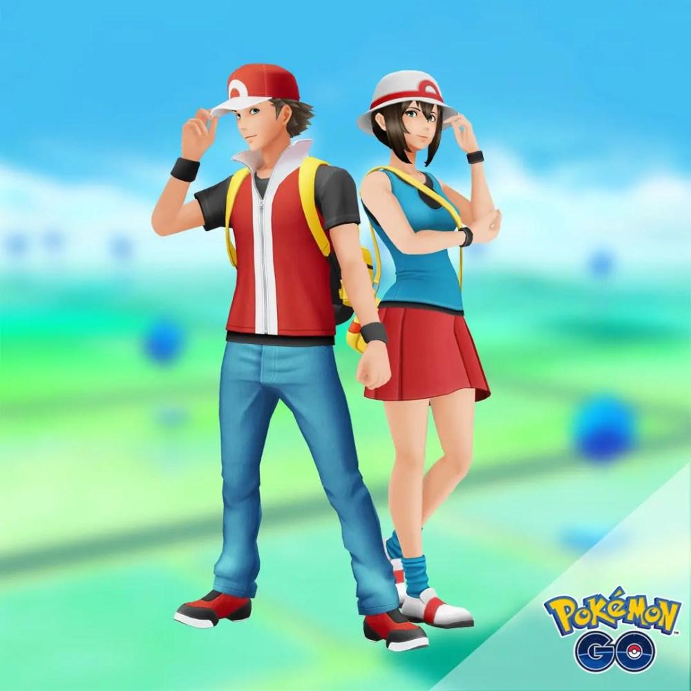 Pokémon GO: Pokémon FireRed and Pokémon LeafGreen Trainer Outfits