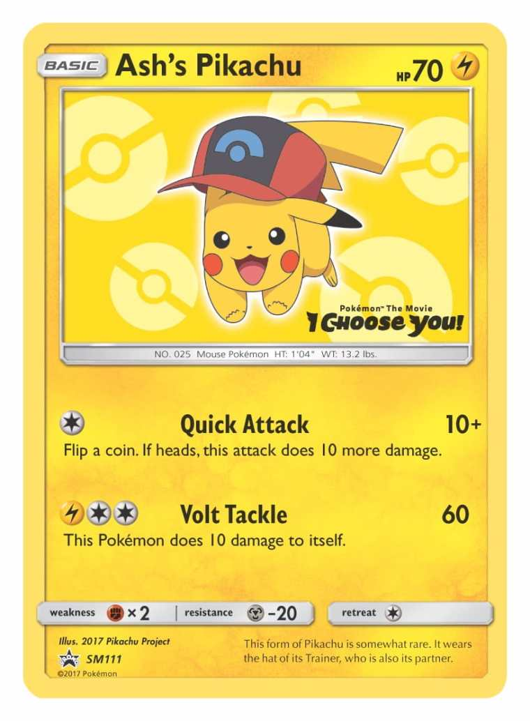 Ash's Pikachu Sinnoh Cap Pokémon TCG Card Image