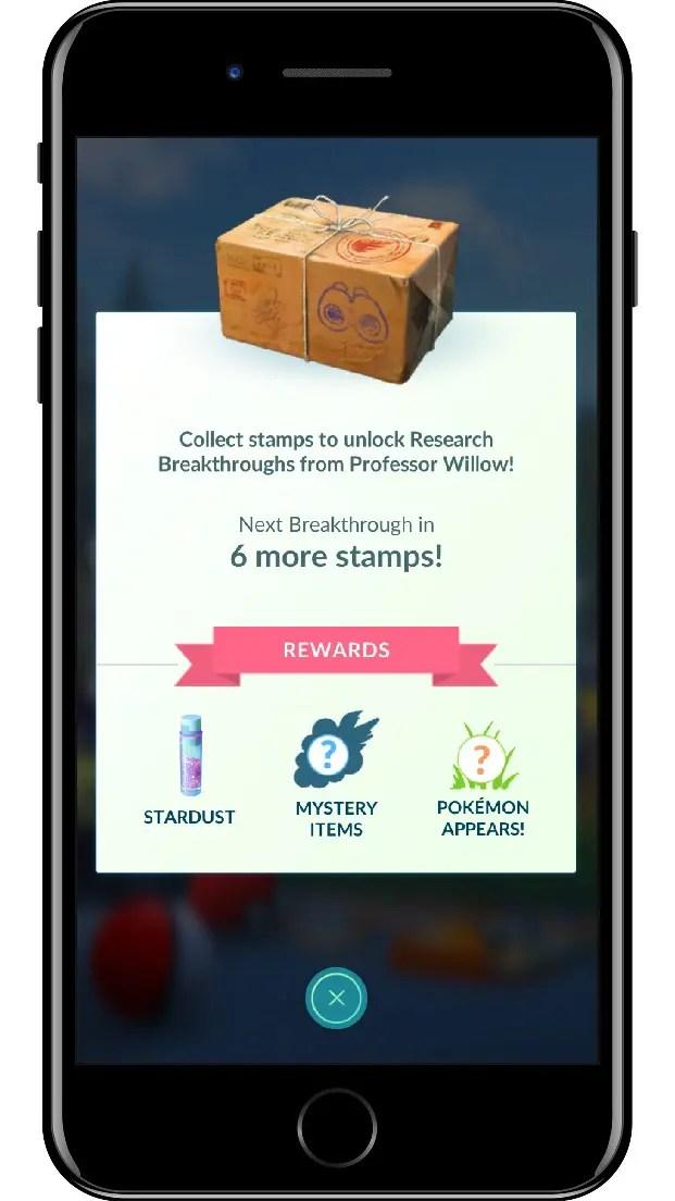 Pokémon GO Field Research Screenshot 2