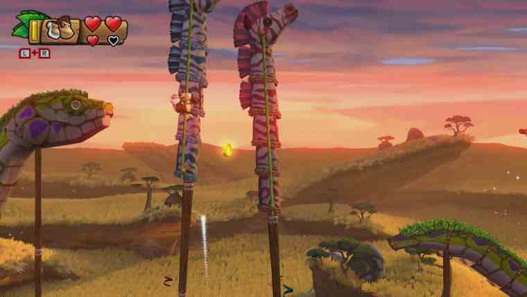 Donkey Kong Country: Tropical Freeze 3-1 Grassland Groove Screenshot