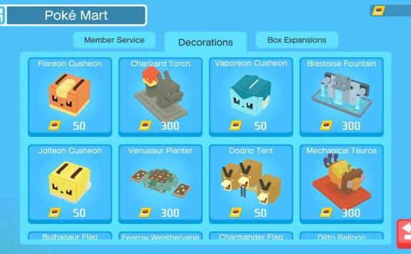 Pokémon Quest Poké Mart Screenshot