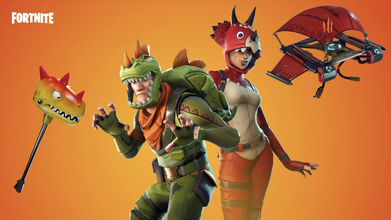 Fortnite Dino Guard Gear Pterodactyl Glider And Rawr Emote Now