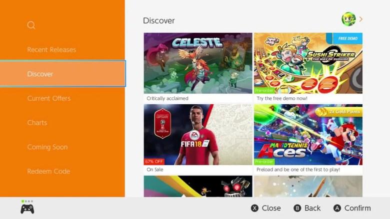 Nintendo eShop Discover Screenshot