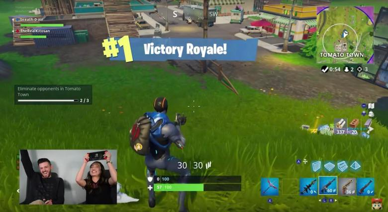Nintendo Minute Fortnite Victory Royale Screenshot