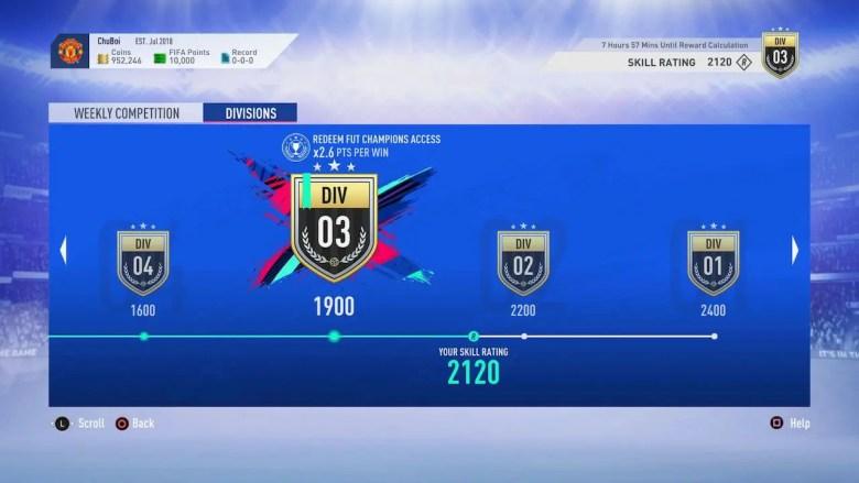 FIFA Ultimate Team 19 Skill Rating Screenshot