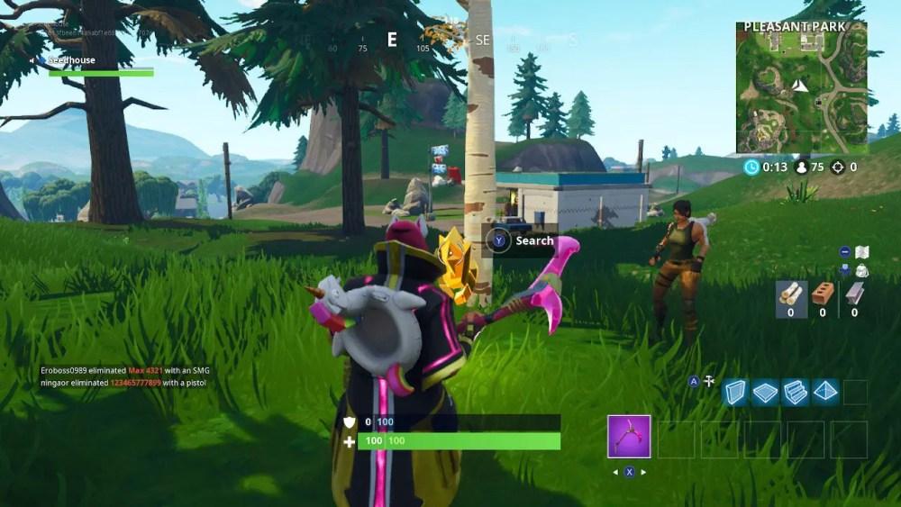 Fortnite Gas Station Soccer Pitch Stunt Mountain Screenshot