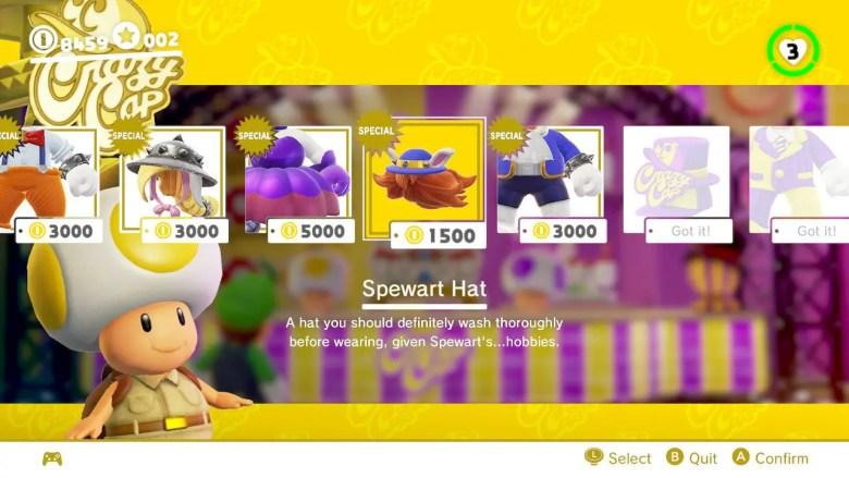 Super Mario Odyssey Spewart Outfit Screenshot
