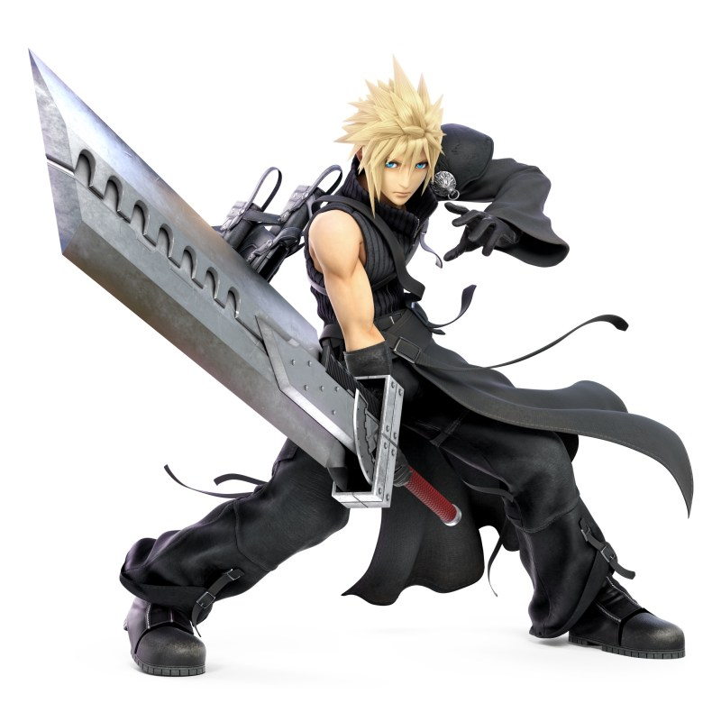 Cloud FF7 Advent Children Super Smash Bros. Ultimate Character Render