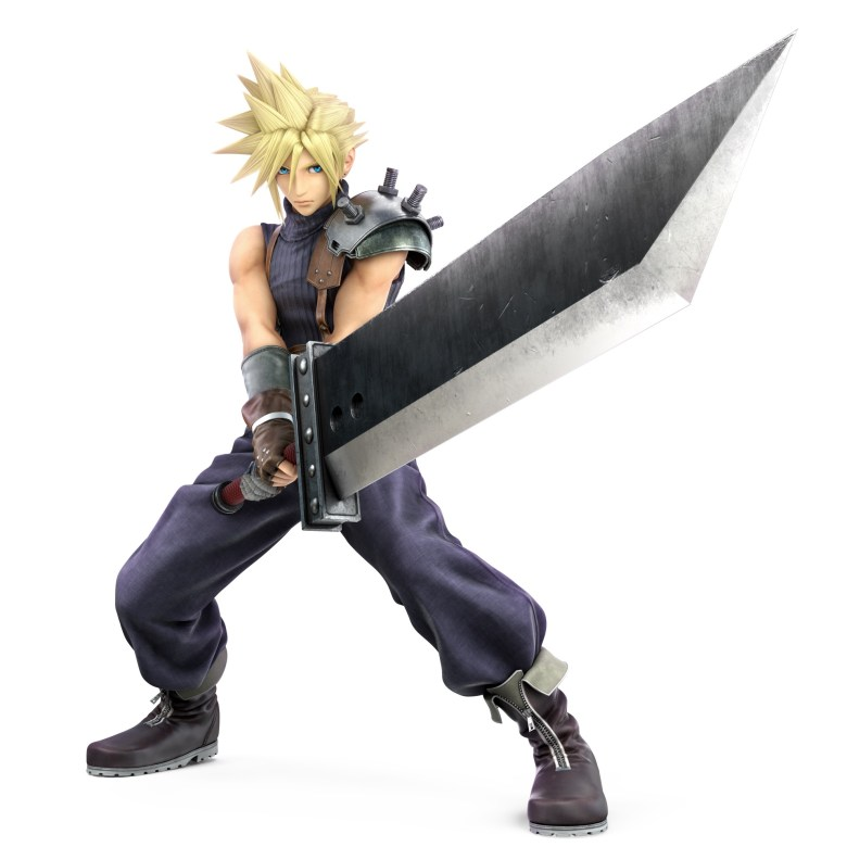 Cloud FF7 Super Smash Bros. Ultimate Character Render