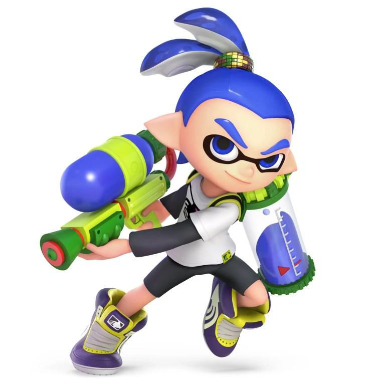 Inkling Boy Super Smash Bros. Ultimate Character Render
