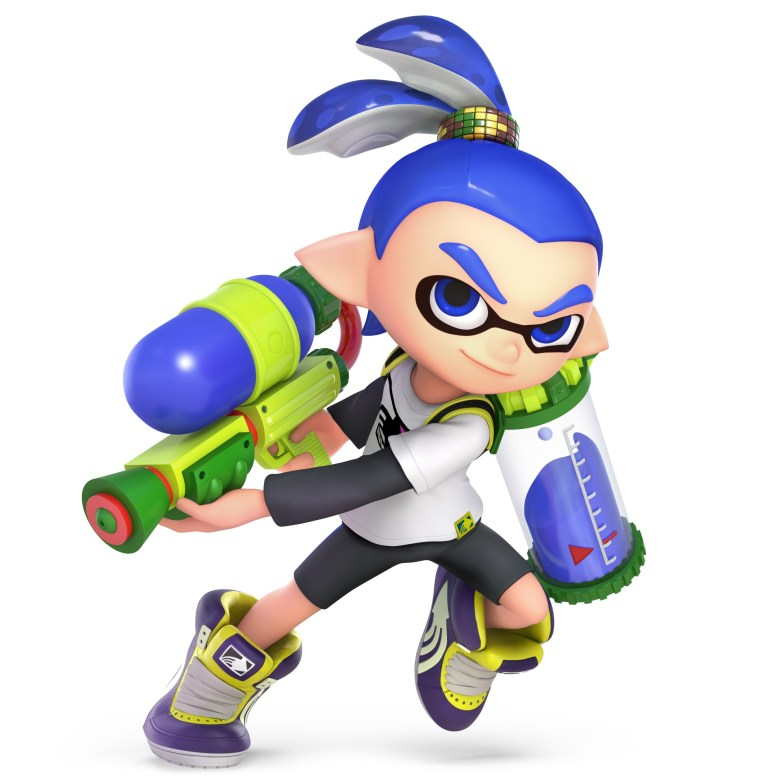 Inkling Boy Super Smash Bros. Ultimate Character Render