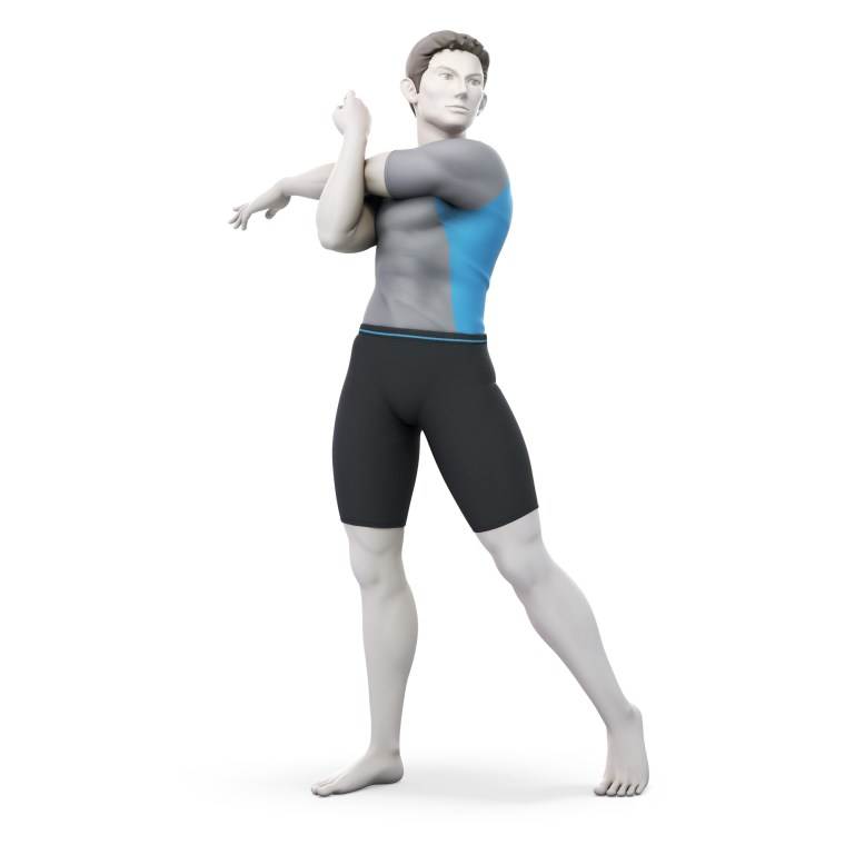 Male Wii Fit Trainer Super Smash Bros. Ultimate Character Render