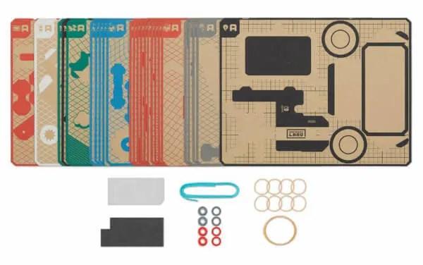 Nintendo Labo Toy-Con 03: Vehicle Kit Contents