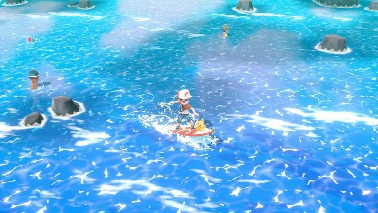 Sea Skim Pokémon Let's Go, Pikachu! Screenshot