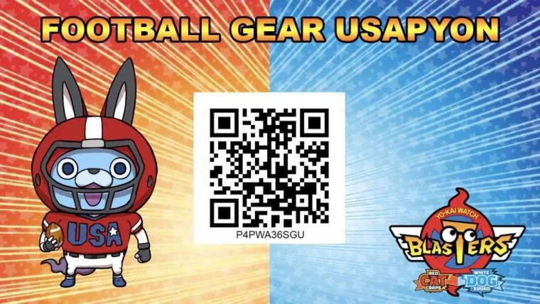 Yo-kai Watch Blasters QR Code Football Gear Usapyon