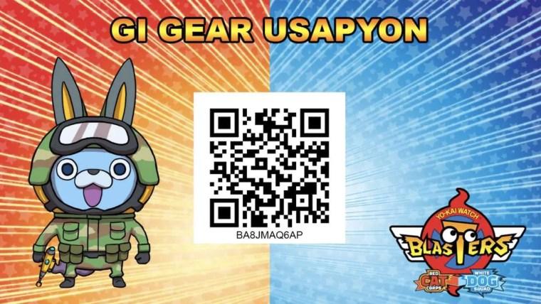 Yo-kai Watch Blasters QR Code GI Gear Usapyon