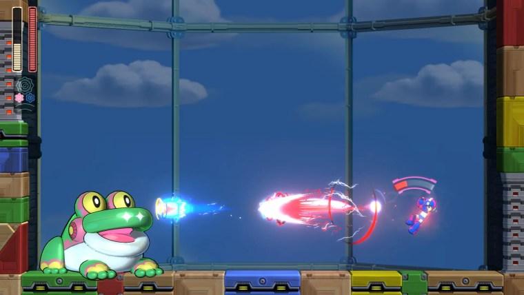 Mega Man 11 Frog Balloon Screenshot