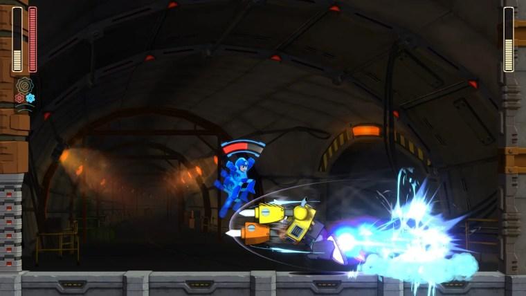 Mega Man 11 Impact Man Screenshot