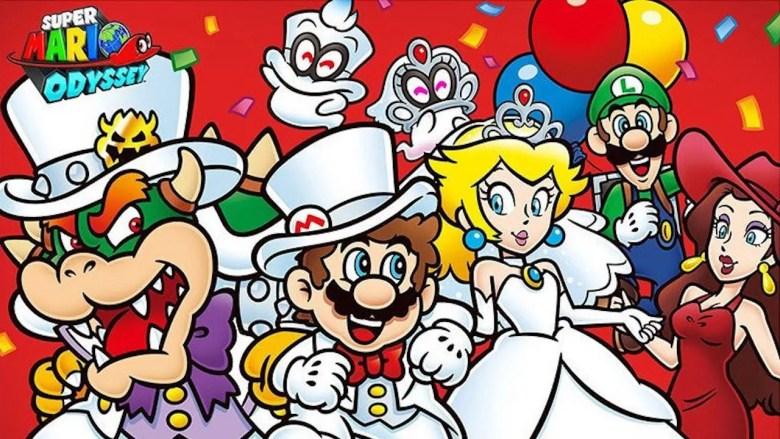Super Mario Odyssey First Anniversary Artwork