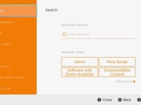 Nintendo eShop Search Filters Screenshot