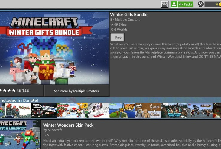 Minecraft Winter Gifts Bundle Screenshot