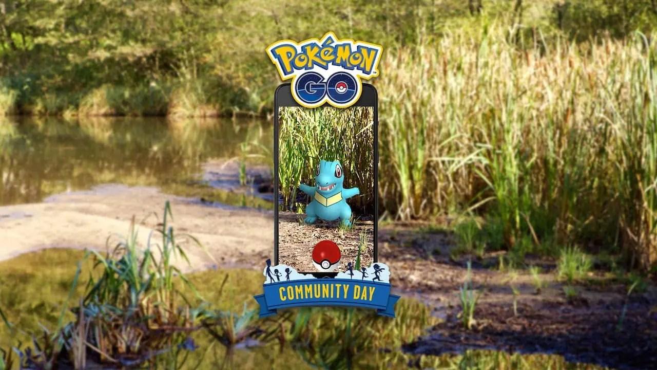 Totodile Pokémon GO Community Day Image