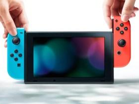 Neon Red Blue Nintendo Switch Photo