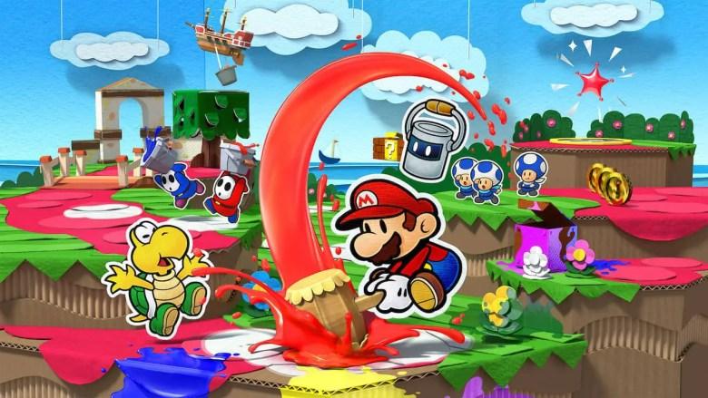 Paper Mario Color Splash Key Art