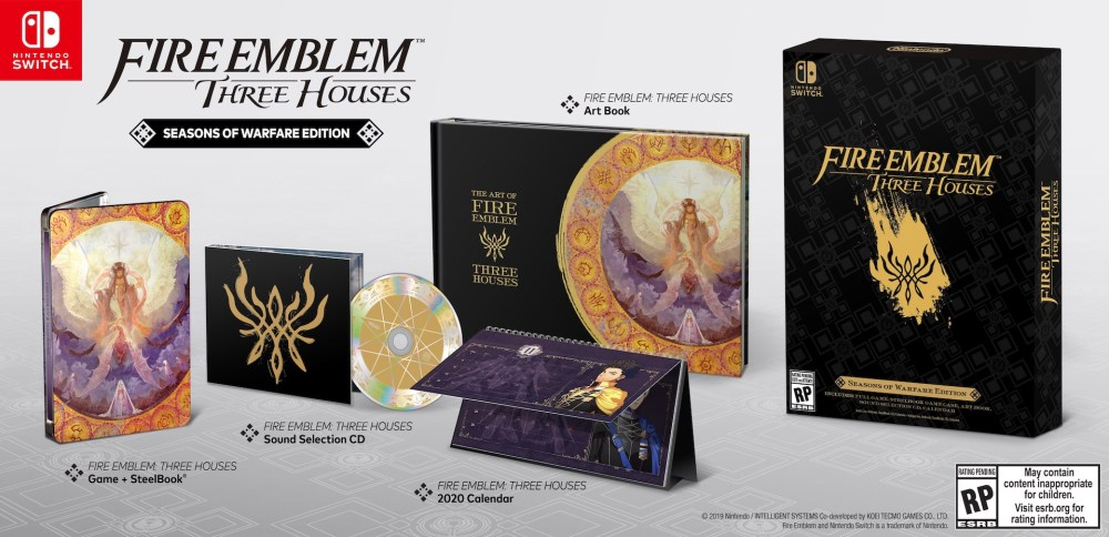 Fire Emblem: Three Houses Seasons of Warfare Edition Box Art