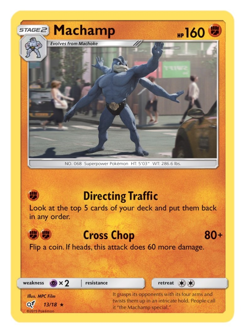 Machamp Card Pokémon TCG Detective Pikachu Collection