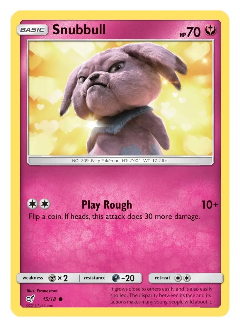 Snubbull Card Pokémon TCG Detective Pikachu Collection
