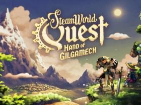 SteamWorld Quest: Hand Of Gilgamech Title Screen