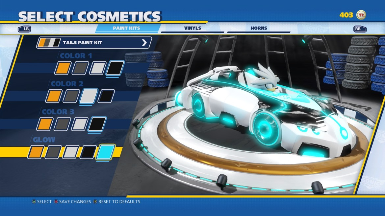Team Sonic Racing Customization Screenshot 2