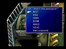 Final Fantasy 7 Mayor's Password Screenshot