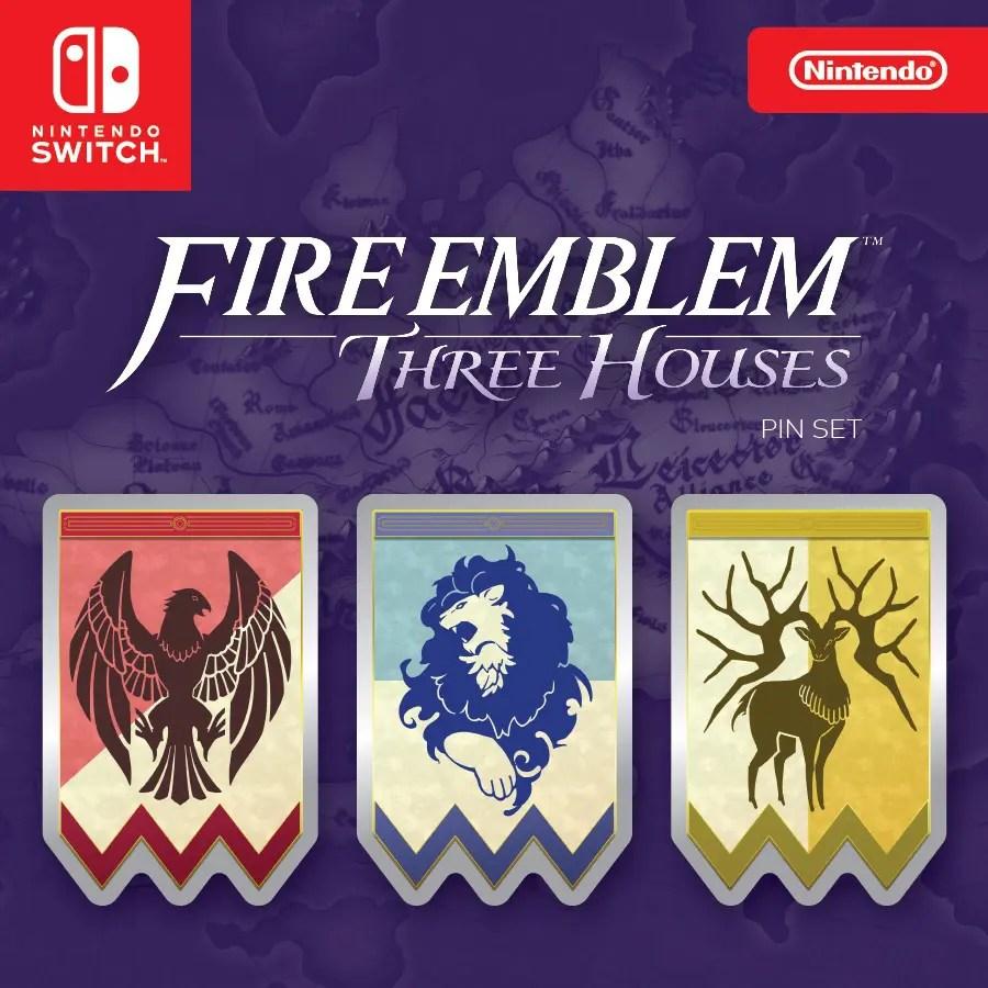 Fire Emblem: Three Houses Pin Set Photo